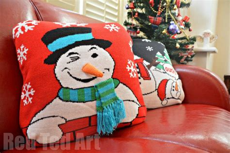 christmas jumper craft idea red ted art s blog