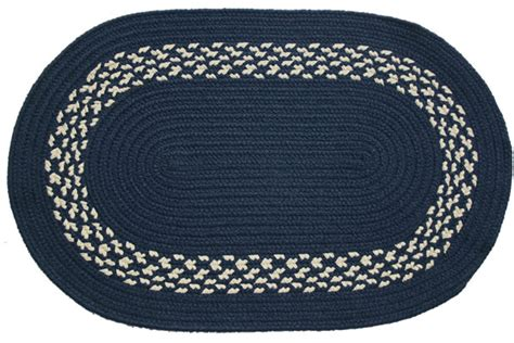 navy blue braided rugs navy navy band oval braided rug
