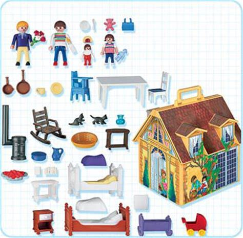 playmobil take along dolls house playmobil set 4145 my take along doll house klickypedia