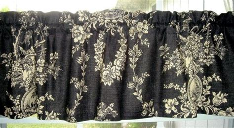 Beige Valances Valance Waverly Black And Beige Waverly Toile Country
