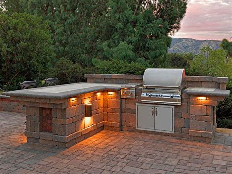 Bbq Island Lighting Ideas Refrigerator Decorating Ideas Patio Contemporary With L Shaped Bbq Island Paving Grill