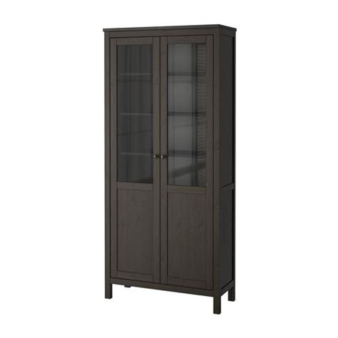 ikea hemnes glass door cabinet hemnes cabinet with panel glass door black brown ikea