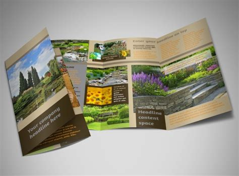 brochure layout landscape landscape design brochure template mycreativeshop