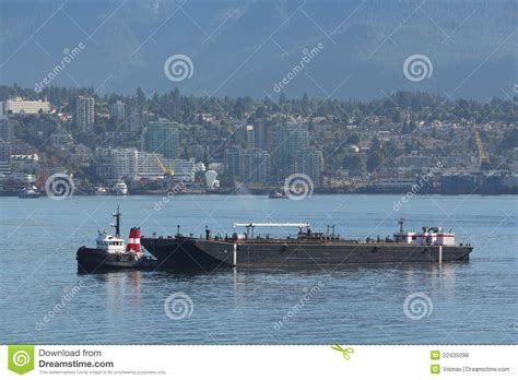 boat fuel tanks vancouver tug boat and fuel barge vancouver stock photo