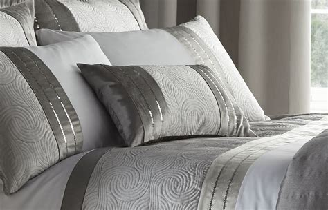 gray coverlet silver grey luxury duvet quilt cover bedding bed set or