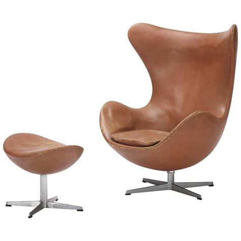 Egg Chair Ottoman Egg Chair And Ottoman By Arne Jacobsen For Fritz Hansen For Sale At 1stdibs