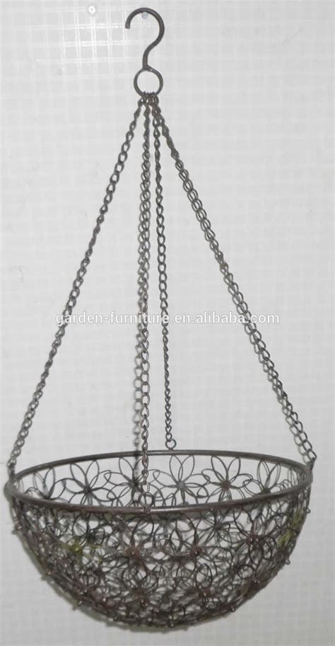 decorative wire baskets wholesale wholesale handicraft garden outdoor decor hanging flower