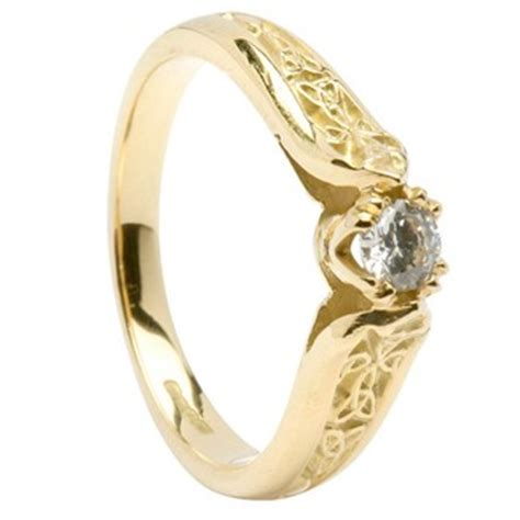 embrace with our celtic knot engagement ring