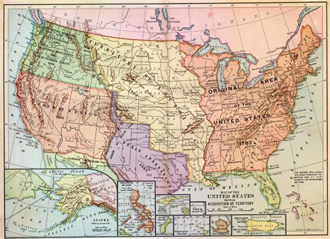expansion of united states to 1833 map issues in american politics presidents and gardens