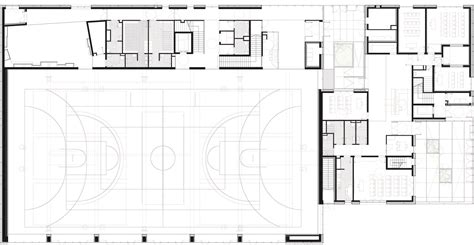 multi purpose hall floor plan zac del lilas multi purpose building scape archdaily