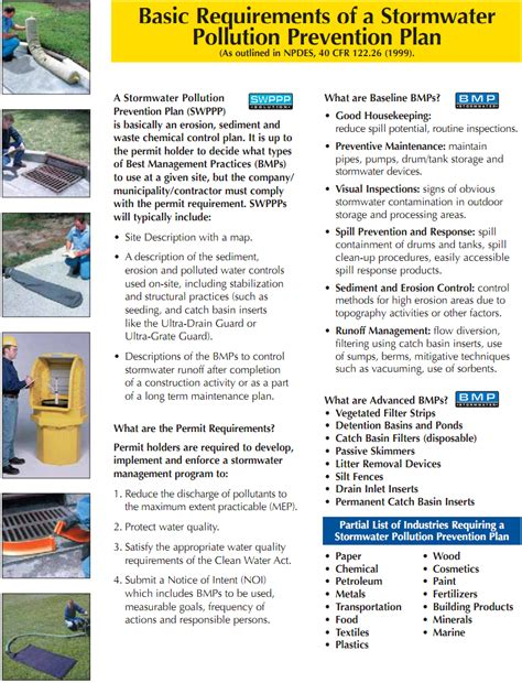 Stormwater Prevention Plan Template Spill Source Stormwater Information Swppp Stormwater Pollution Prevention Plan