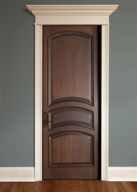 Interior Timber Doors Interior Door Custom Single Solid Wood With Walnut Finish Classic Model Dbi 611a