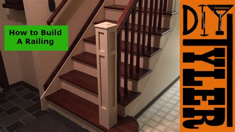how to build a banister on a staircase build a staircase railing diytyler