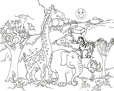 african flag coloring pages african savanna animals
