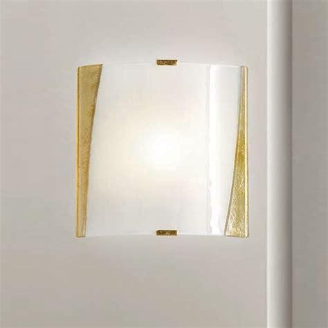 wandleuchte glas mit rahmen gold oder silber wohnlicht - Schiebetür Glas Mit Rahmen