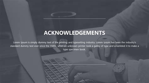 Thesis Template Acknoledgments by Master Thesis Powerpoint Template Slidemodel