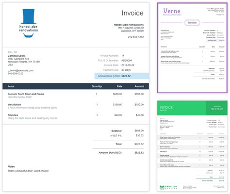 send professional invoices  freeinvoice  wave