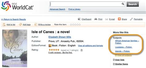 Isle Of Canes finding genealogy in library catalogs