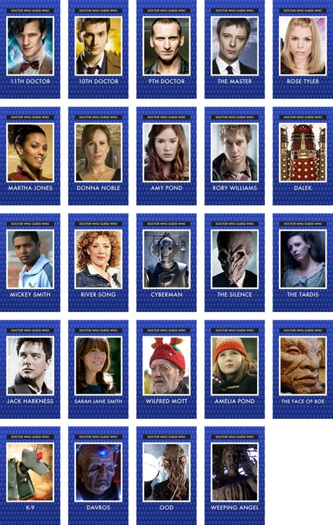 guess who card template of guess who doctor who edition kavett