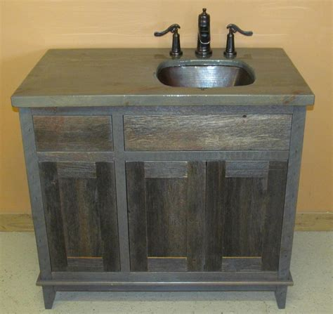 Weathered Gray Antique Barnwood Vanities Traditional Weathered Bathroom Vanity