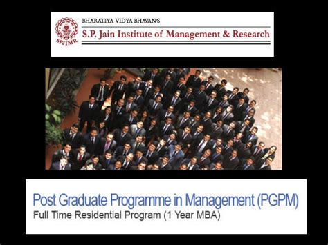 1 Year Mba In India Eligibility by Spjimr Opens Admissions For Pgpm 1 Year Mba Programme