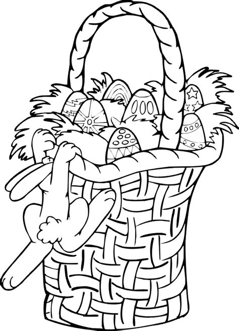 coloring pages of easter baskets free coloring pages easter basket coloring pages