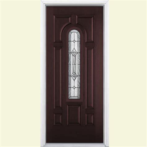 Masonite Fiberglass Entry Doors Masonite 36 In X 80 In Providence Center Arch Merlot