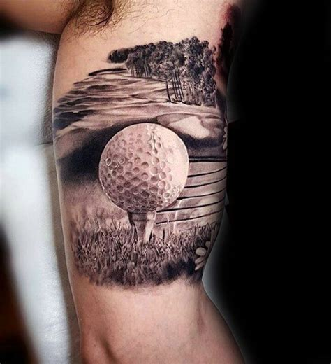 golf ball tattoo 70 greatest tattoos for design ideas