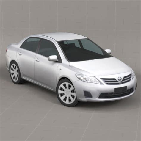 TOYOTA Corolla 2011 Low Poly 3D Model   FormFonts 3D