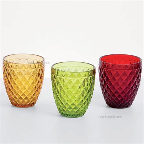 bicchieri vetro colorato bicchiere tuscany fade rosso ml 250 bicchiere vetro