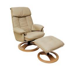 Leather Swivel Recliners by Daneway Morris Leather Swivel Recliner