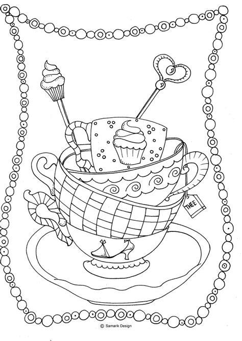 kleurplaat voor volwassenen tea kleurplaten voor