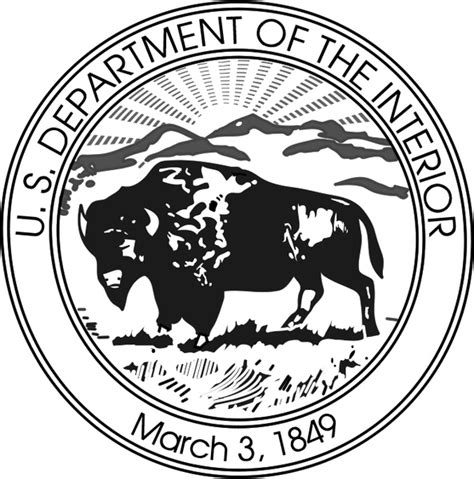 us department of the interior free vector in encapsulated