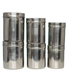 Stainless Steel Storage Container - bm stainless steel container set 6 pcs buy online at best price in india snapdeal