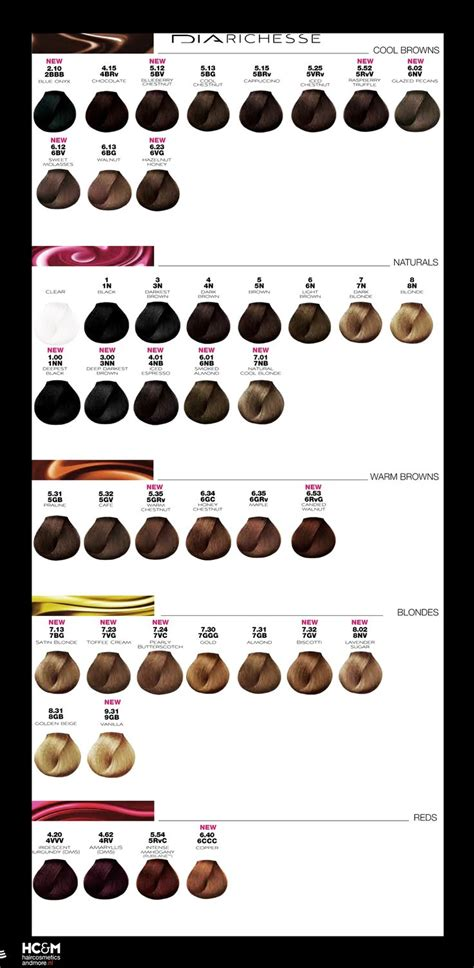 loreal professionnel inoa hair color chart l or 233 al professionnel dia richesse color chart august