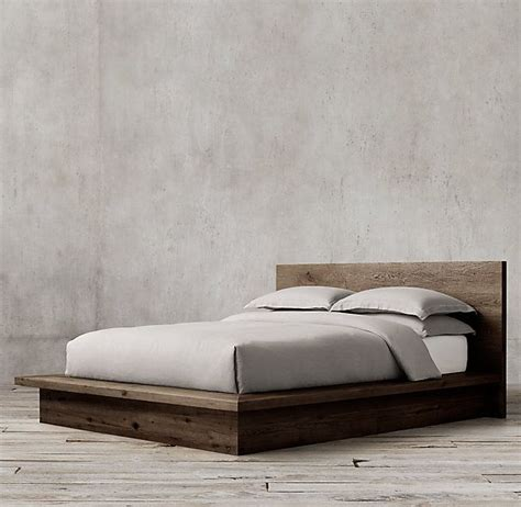Bed Frame Without Footboard Reclaimed Russian Oak Platform Bed Without Footboard
