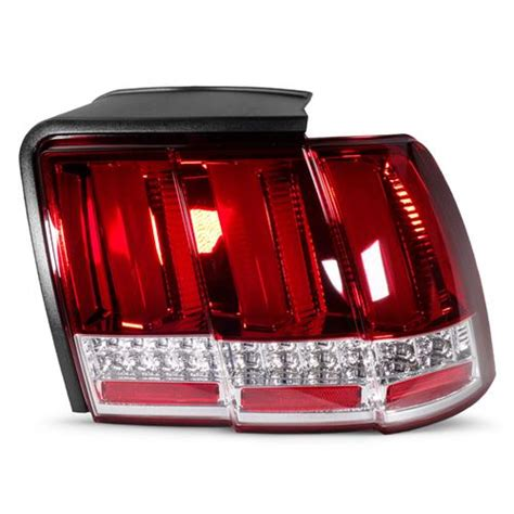 99 04 mustang sequential tail light kit mustang sequential s550 style tail lights red 99 04