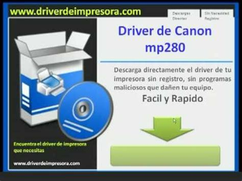 reset canon mp280 descargar descargar driver de canon mp280 youtube