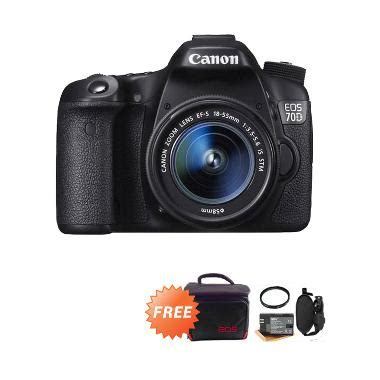 Kamera Canon 70d Indonesia jual canon eos 70d lens kit 18 55mm stm kamera dslr 20 mp