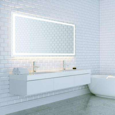 anti fog mirrors for bathroom frameless bathroom mirrors bath the home depot