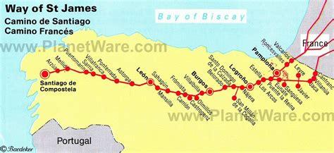 camino trail map el camino de santiago trail the way of st