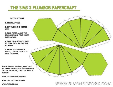 sims plumbob template plumbob papercraft snw simsnetwork