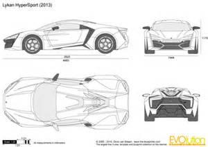 blueprints vector drawing lykan hypersport