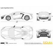 The Blueprintscom  Vector Drawing Lykan HyperSport