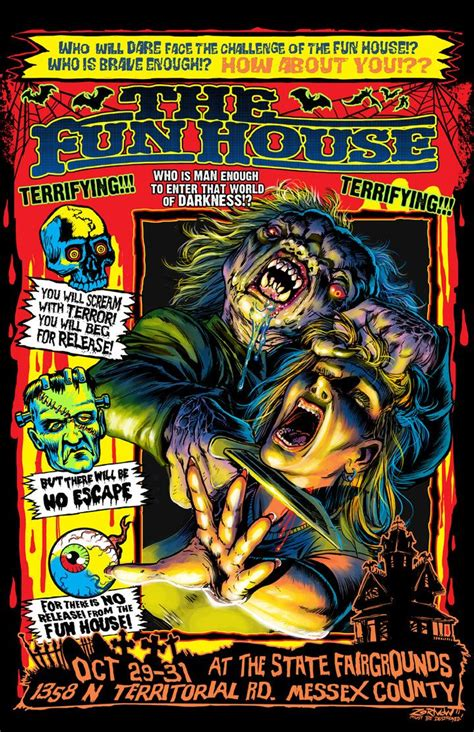 the fun house the funhouse horror art pinterest