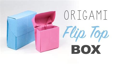 How To Make A Paper Cigarette Box - origami flip top box tutorial diy