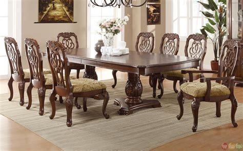 marisol cherry finish formal dining room table set marisol cherry finish formal dining room table set