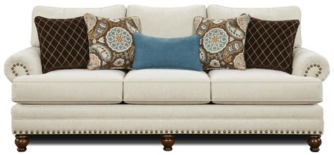 sofa with nailheads fusion furniture 2820 traditional sofa with nailhead trim
