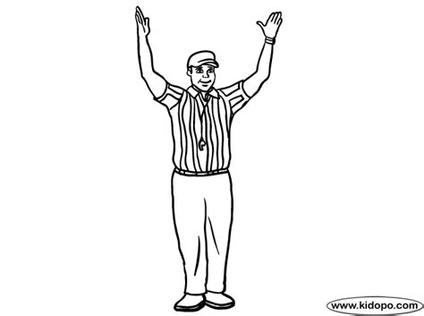 Football Referee Coloring Page | football referee 6 coloring page