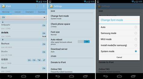 how to change the font on android how to change fonts on android